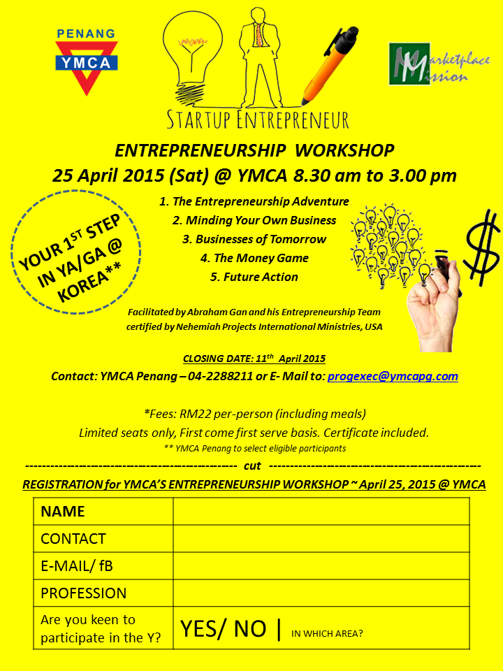 YMCA Entrepreneur Workshop